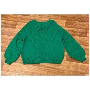 VICI Pine for You Cable Knit Sweater